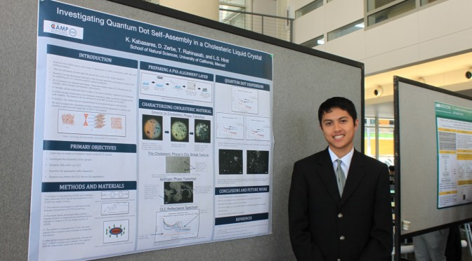 Kyle Kabasaras, CAMP summer student, presents research at UC Merced Symposium